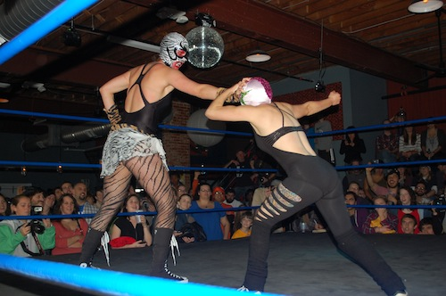 Amazon woman wrestling
