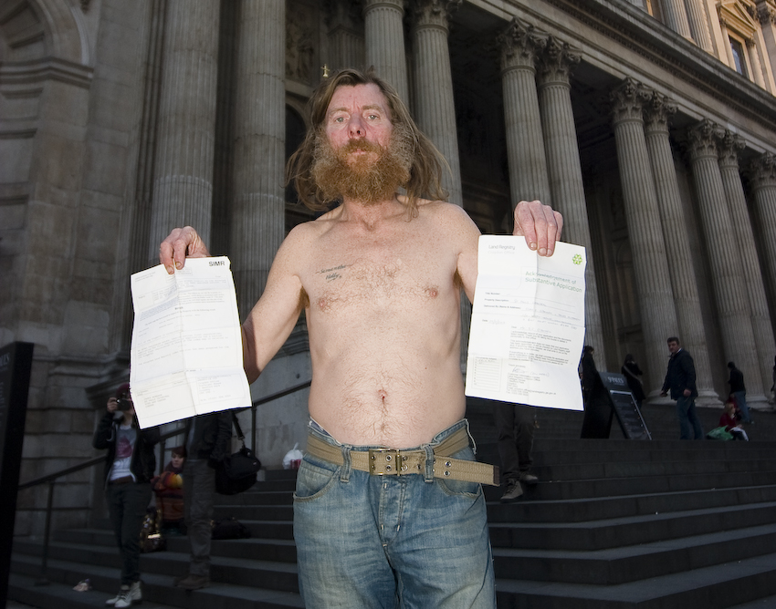 Jimmy displays his title deeds documents