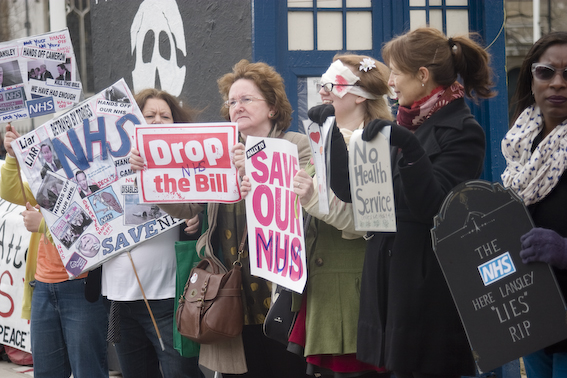 NHS Protesters