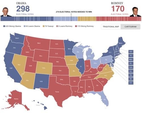 The HuffPost Election Map A First Look At The Presidential Race - 2000 us électorale map