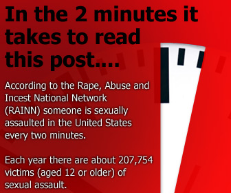 Every two minutes someone in the united states is sexually assaulted