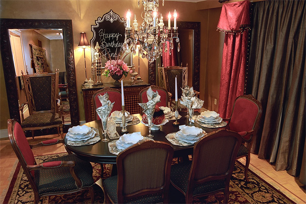 A Dining Room Fit for Royalty