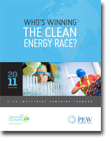 Cover for Pew Clean Energy Report