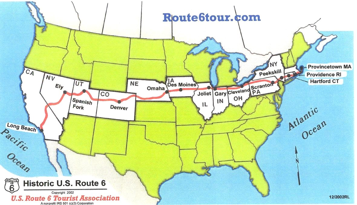 Setting Out Across America On Route HuffPost - Us route 6 map