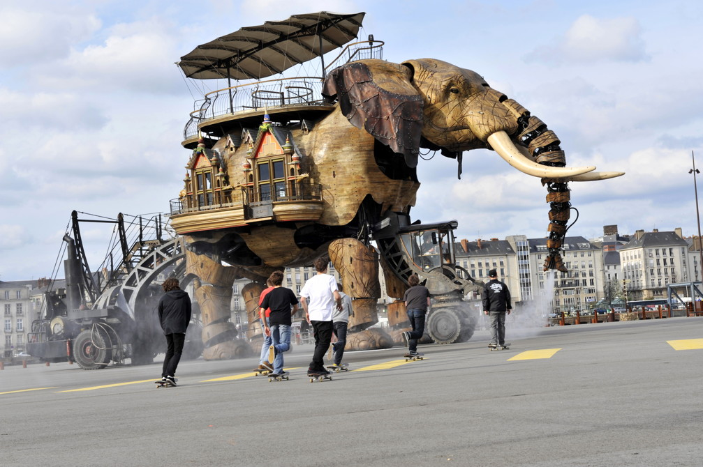 Art Saves A City 5 Story Elephant Prowls The Streets