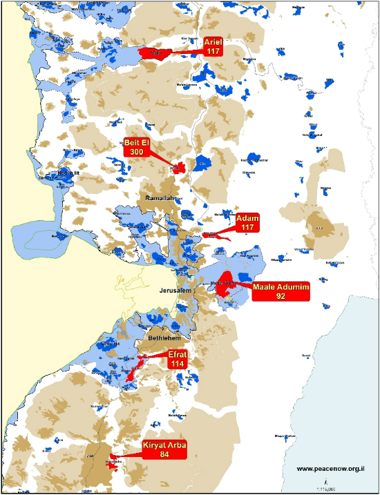 The Compensation Package for the Settlers: 851 Units to
