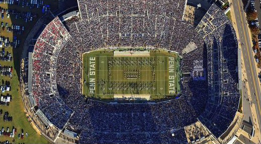 Stadium flyover image from Kevin P. Coughlin/Flying Dog Photos