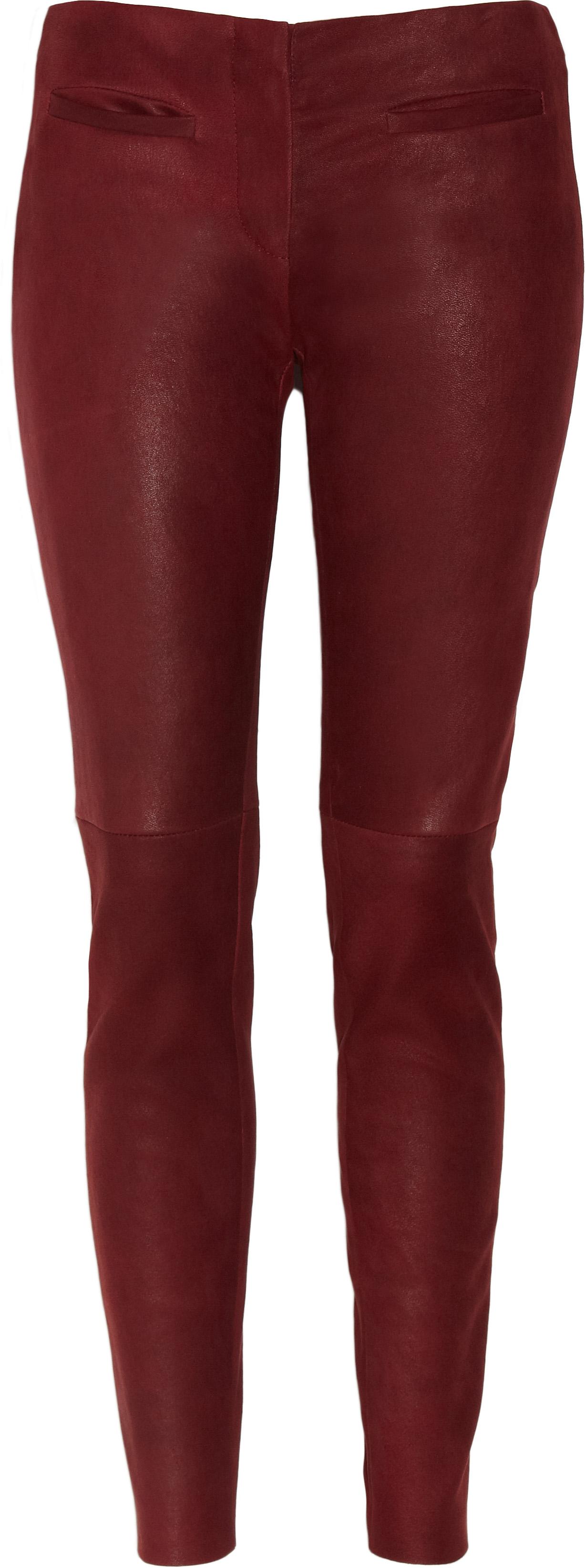 Red Leather Look Leggings
