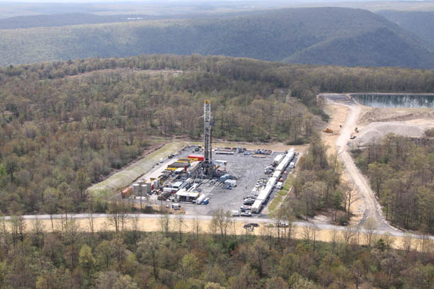 Fracking site in Pennsylvania
