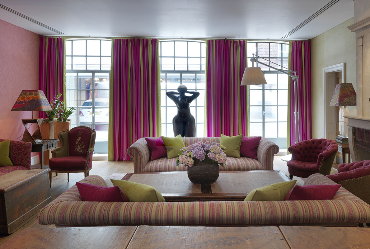 A sumptuous afternoon tea at the soho hotel for Drawing room setting ideas