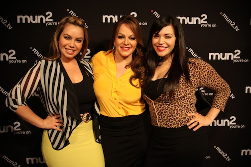 at the Chiquis N Control Launch Party are Chiquis Marin; Jenni Rivera