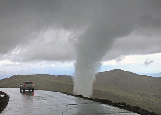 Rare Tornado Shocks Alpine Visitors Huffpost Uk