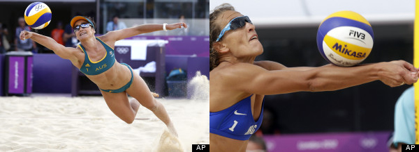 beach volleyball photos focus on womens body parts not