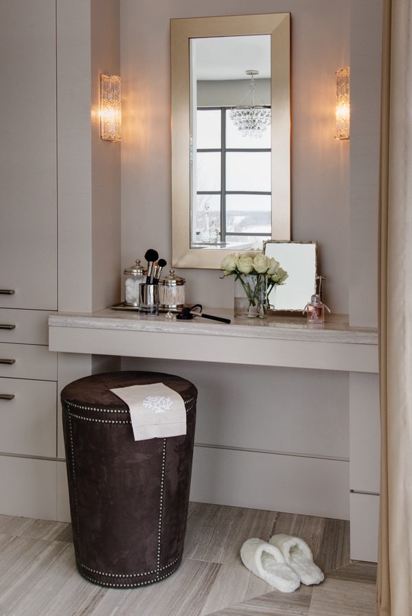 Morning routines are a snap with a stylish vanity - Small space makeup vanity style ...