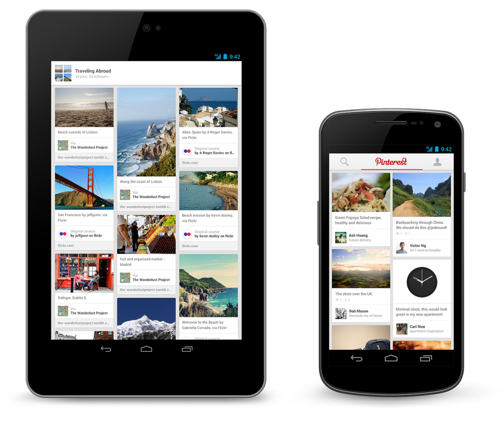 Pin this pinterest releases android and ipad apps for Pinterest download