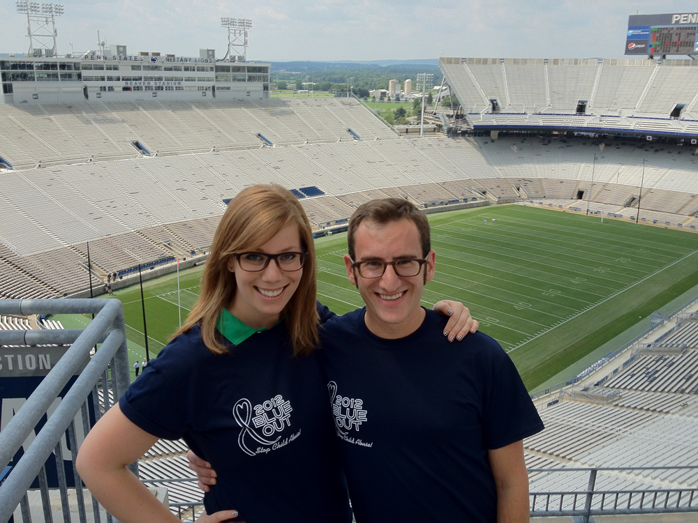 Laura March and Stuart Shapiro at the Stadium