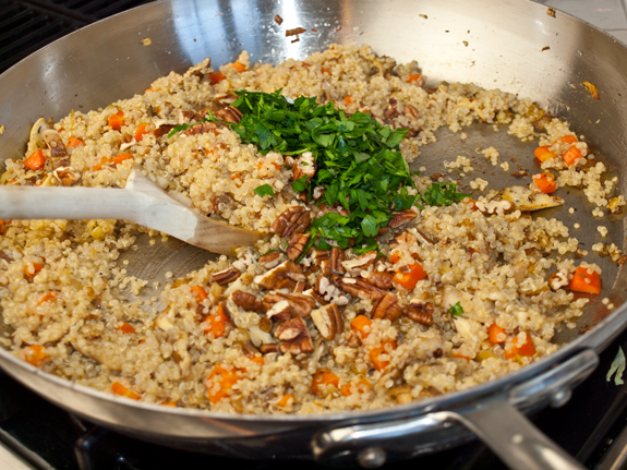Quinoa Pilaf With Shiitake Mushrooms, Carrots And Pecans | The ...
