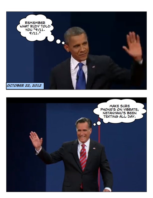 Obama and Romney square off in final debate page 1