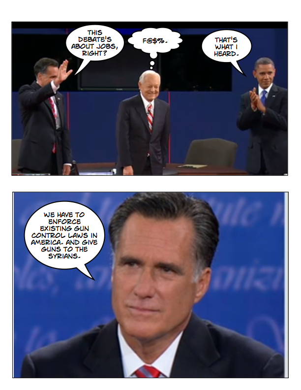 Obama and Romney square off in final debate page 2
