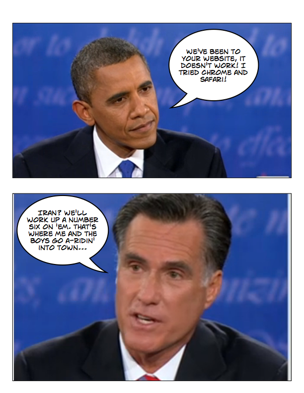 Obama and Romney square off in final debate page 5