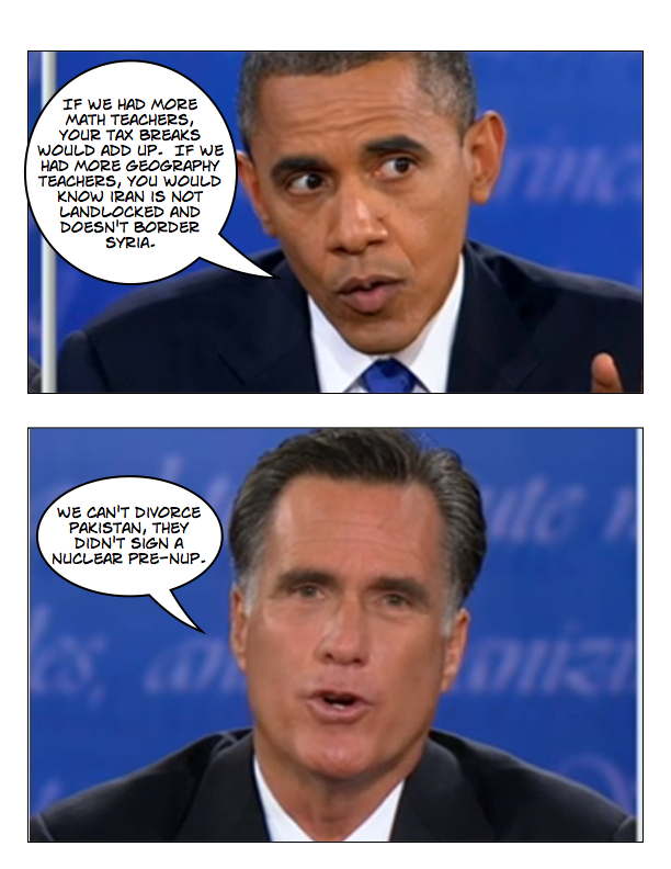 Obama and Romney square off in final debate page 7