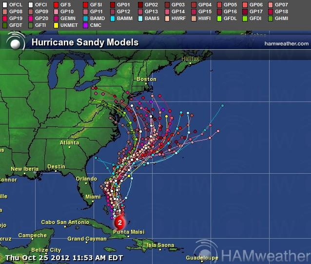 Hurricane prediction map