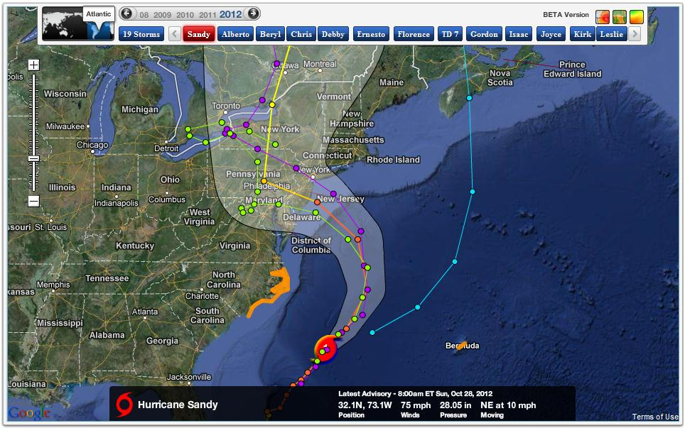 Hurricane Sandy Forecast Updates Huffpost