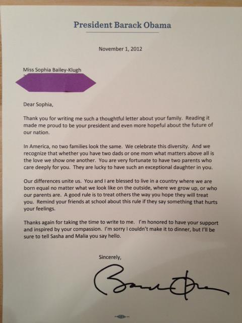 Obama Responds to 10-Year-Old's Heartfelt Letter About Her