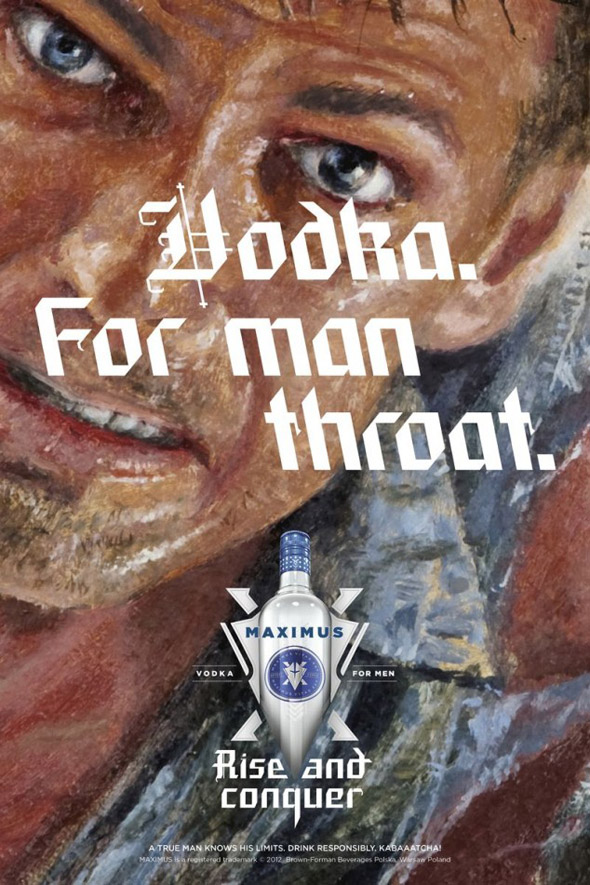 Foodista | Maximus Vodka Challenges Drinkers to Man Up