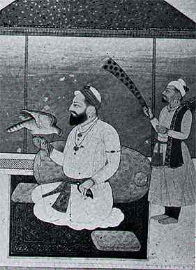 Guru Hargobind - a painting from the Lahore Museum