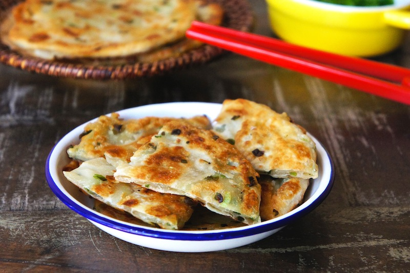 Chinese Scallion Pancakes or Green Onion Pancakes | The Huffington ...
