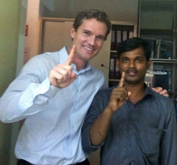 Dr. Jason Baker (on left in Vellore, India)
