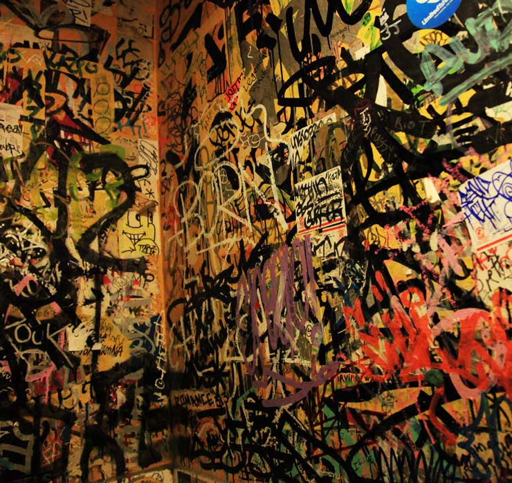 Bathroom Wall Graffiti bathroom graffiti on canvas with mint & serf | huffpost