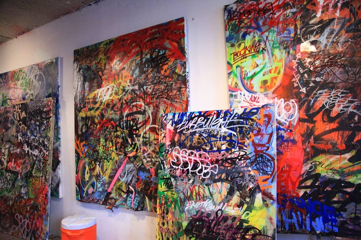 Bathroom Graffiti on Canvas With Mint & Serf | HuffPost