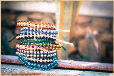 The bags and jewelry from Haitian Creations are handmade by women in Haiti, who are a part of a sewing program that is giving these impoverished women lifelong skills.