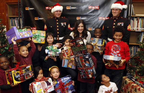 Christmas Toys For Tots Application : We love lucy hale the actress shares some news about