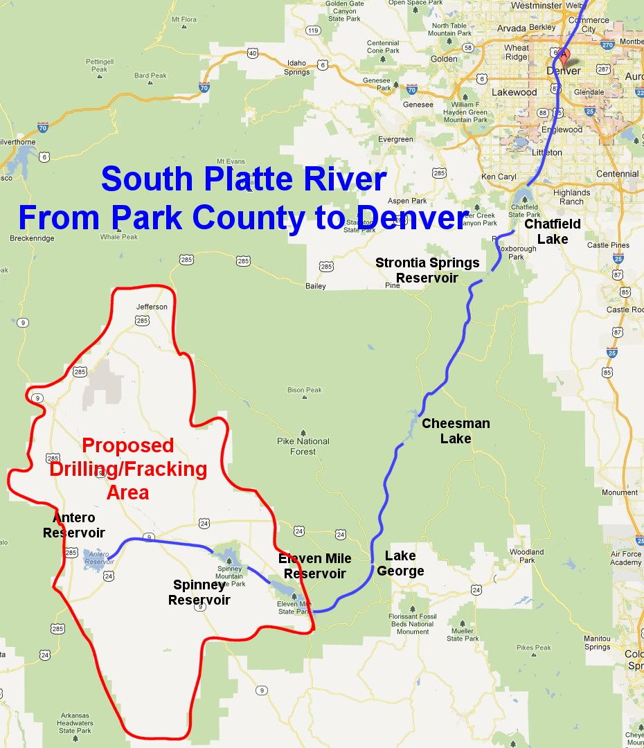 Platte River Location Don't Frack Denver's W...