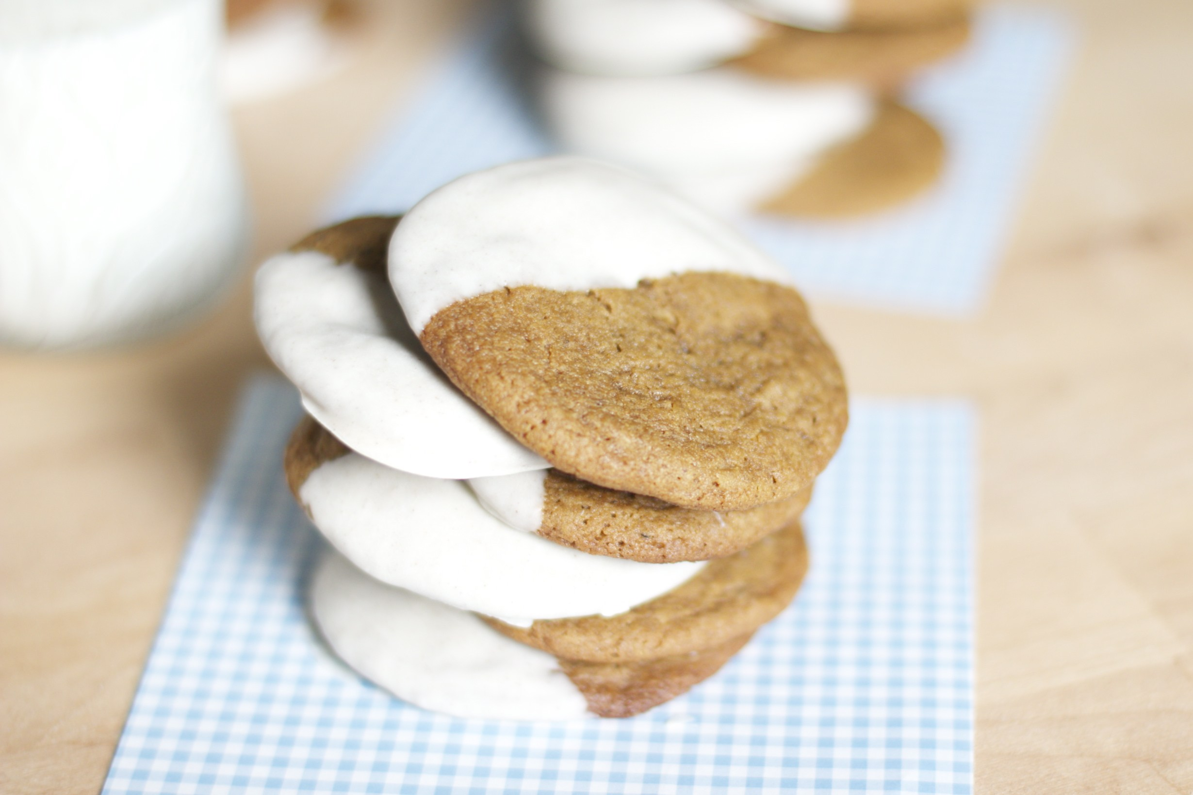 Chocolate-Dipped Molasses Cookies Recipes — Dishmaps