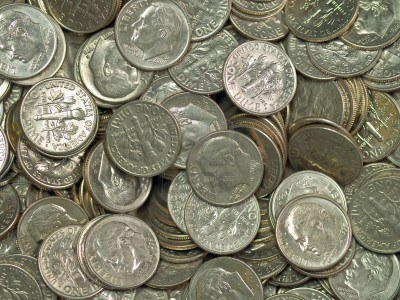 a pound of quarters vs a pound of dimes which is heavier and