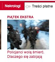 Using a key symbol to mark paid-for content on Wyborcza.pl