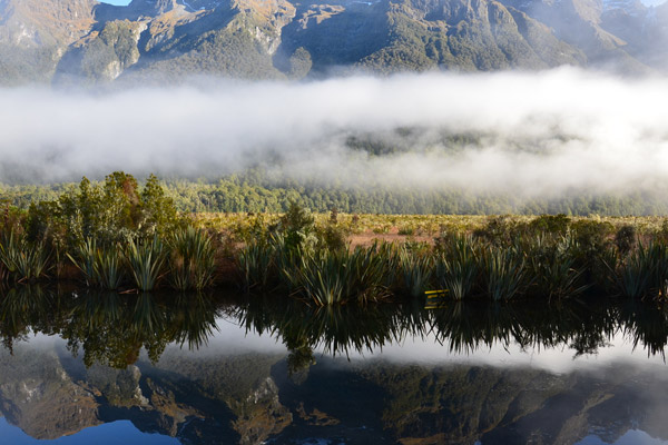 Fiordland National Park's peaceful Mirror Lake