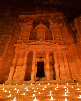 Petra after dark