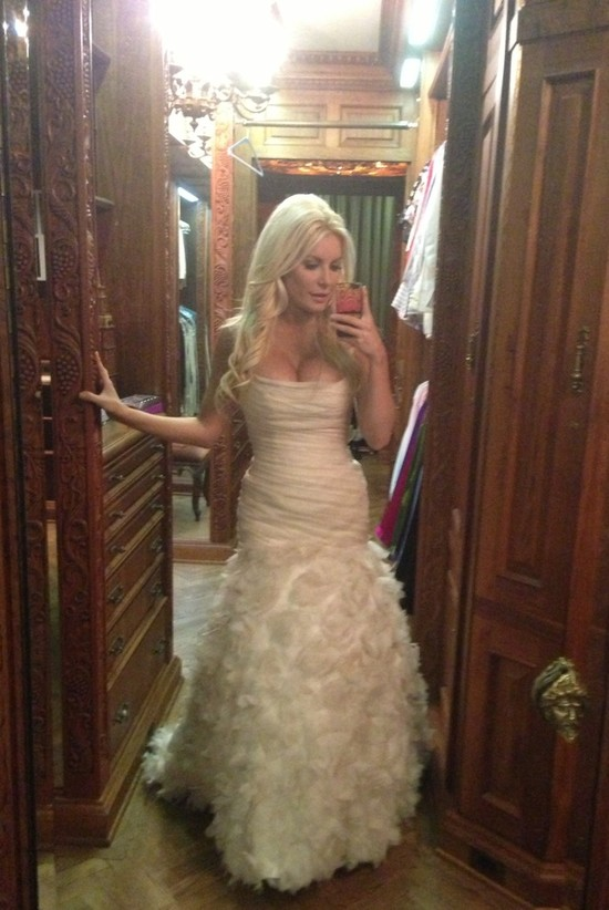 Crystal Harris Wedding Dress Auctioned In Honor Of Hugh Hefner S
