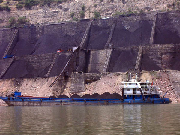 Coal barge in China