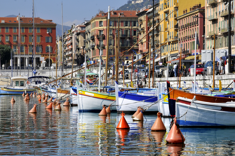 Boats in the port of Nice in southeastern France