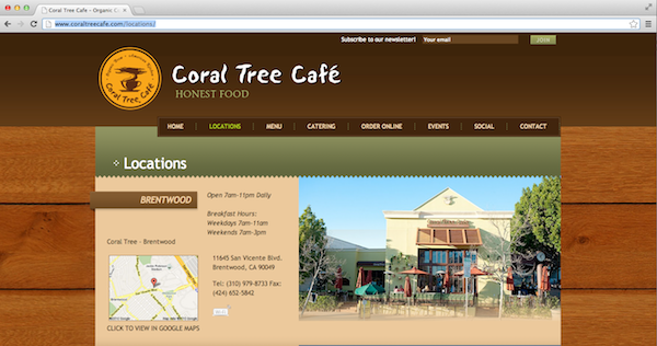 2013 02 25 CoralTreeLocation - Catering to Your Customers: 15 Restaurant Website Best Practices