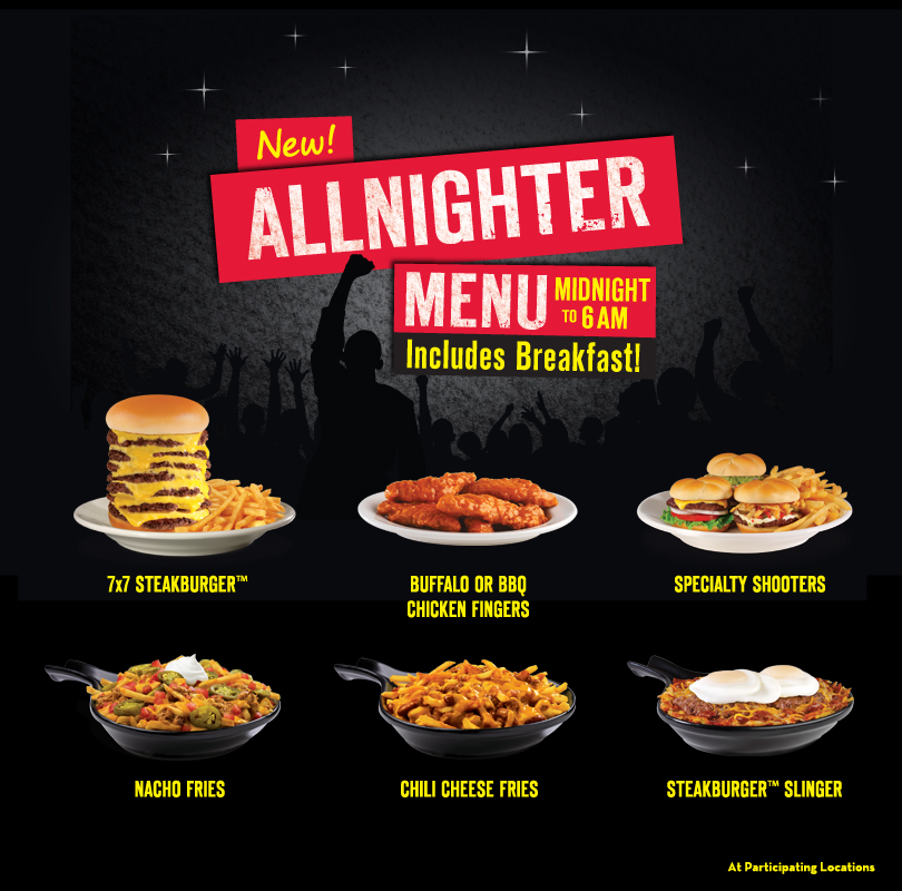 The Steak 'n Shake menu prices are generally divided into Breakfast, Lunch & Dinner, 4 Dollar Menu, Up All Night, and Kids menus. The Steak 'n Steak Breakfast Menu items include biscuits, bagels, tacos, breakfast bowls Steakburgers and skillet specials.