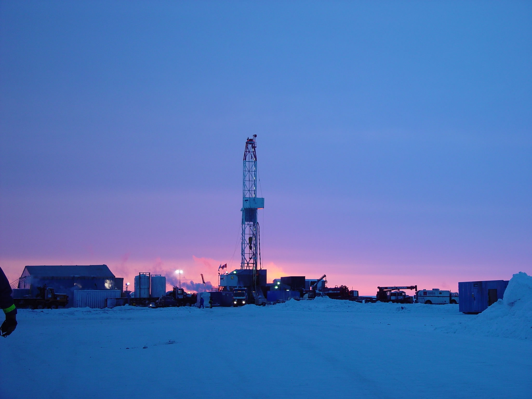 hydrate gas test well in Canada