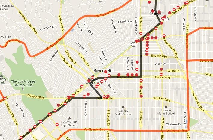Celebrity homes beverly hills google maps home review for Beverly hills celebrity homes map