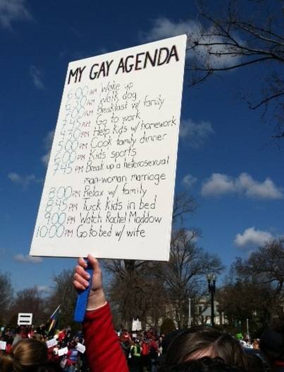 Funny gay marriage protest signs